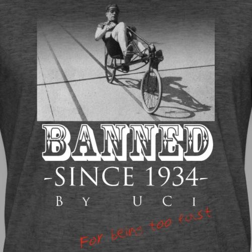 Recumbent Bike Banned since 1934 - Miesten vintage t-paita
