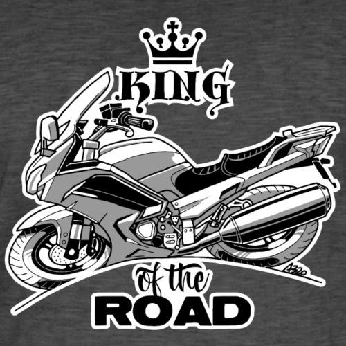 0883 FJR KING of the ROAD - Mannen Vintage T-shirt