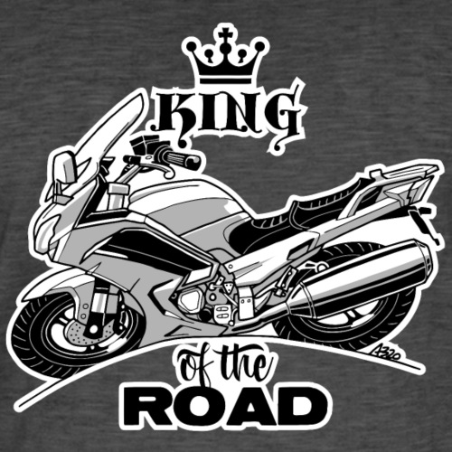 0884 FJR KING of the ROAD - Mannen Vintage T-shirt