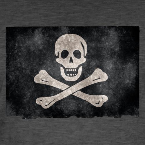 Jolly Roger Grunge Flag - Vintage-T-shirt herr