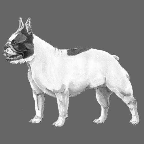 French Bulldog - Herre vintage T-shirt