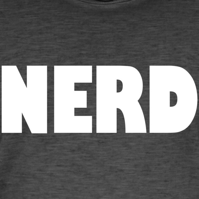 NERD Text Logo White