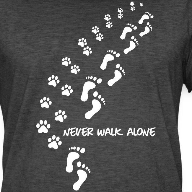 Vorschau: never walk alone dog - Männer Vintage T-Shirt