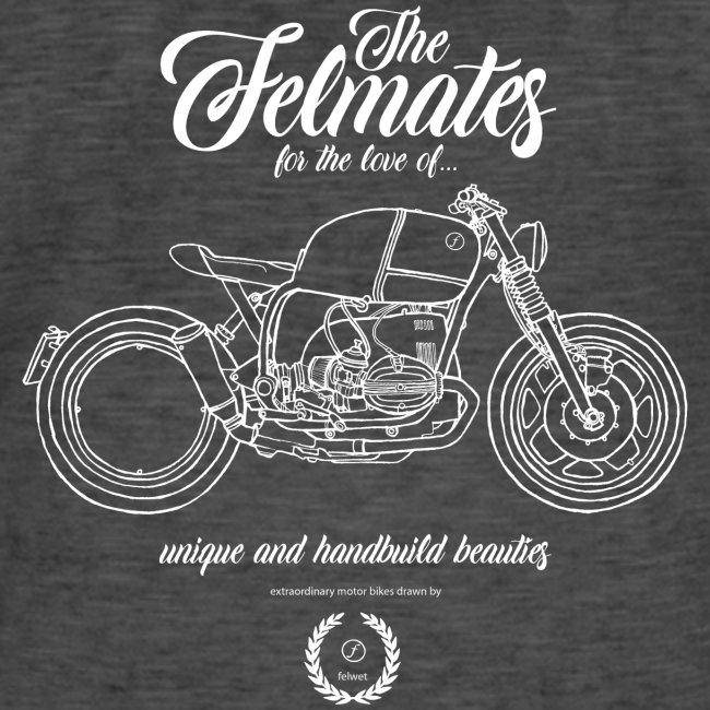 the felmates motorbikes outlines white 2