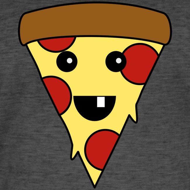 Niedliche Pizza Im Kawaii Stil Für Pizza Fans Männer Vintage T Shirt