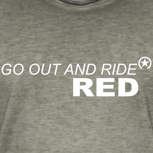 jeździć czerwonym - Koszulka męska vintage