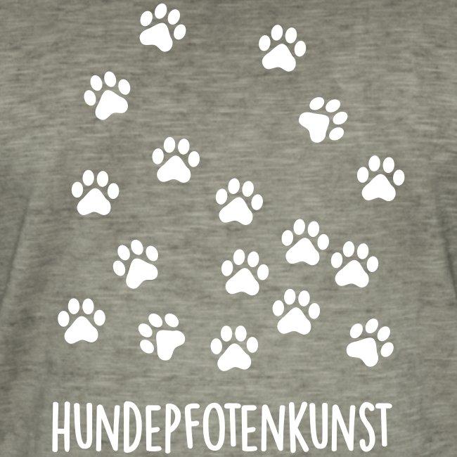 Vorschau: Hundepfotenkunst - Männer Vintage T-Shirt