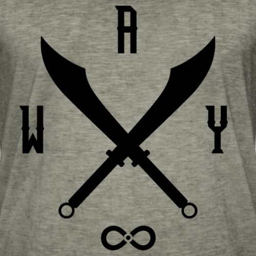 Immortal Way Chinese Broadswords - Men's Vintage T-Shirt