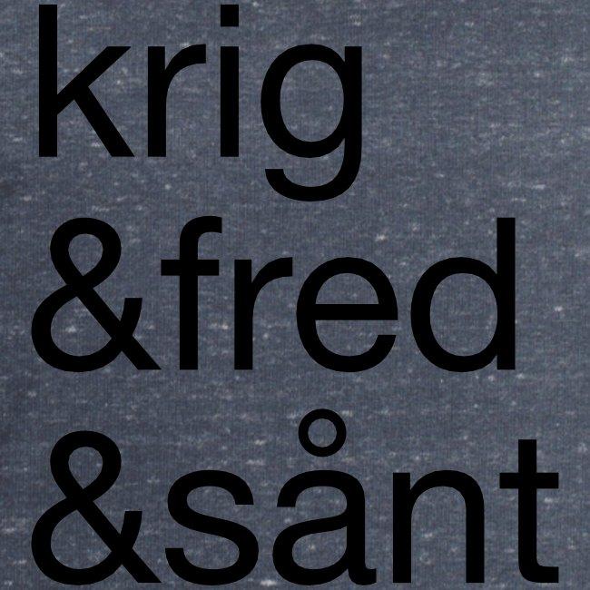 krig&fred&sånt - fra Det norske plagg