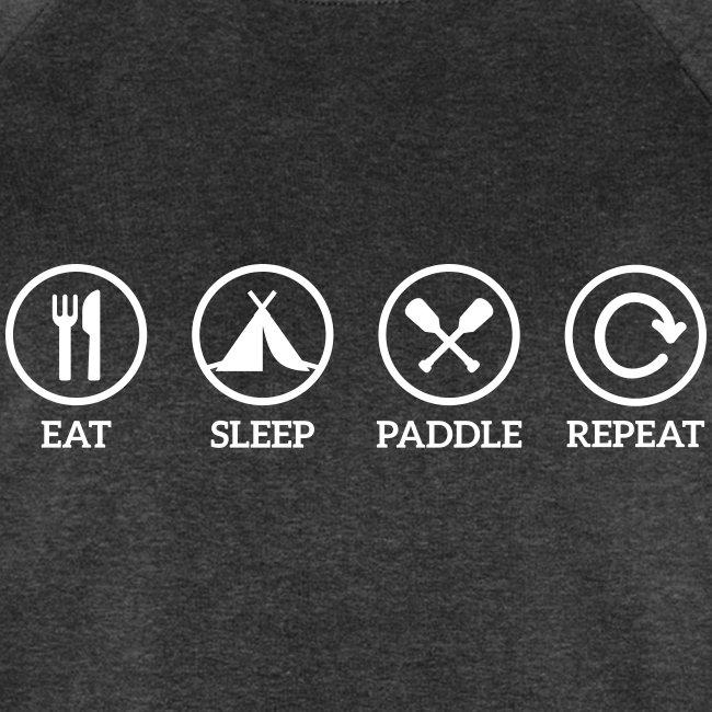 eat sleep paddle repeat Paddeln Kanu Kajak Spruch