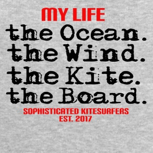 MY LIFE - the Ocean the wind the kite the board - Männer Sweatshirt von Stanley & Stella