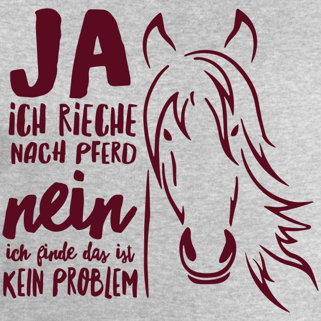 Vorschau: ja ich rieche nach Pferd - Männer Bio-Sweatshirt