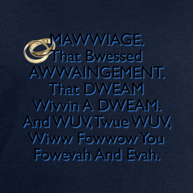 Mawwiage (blue)
