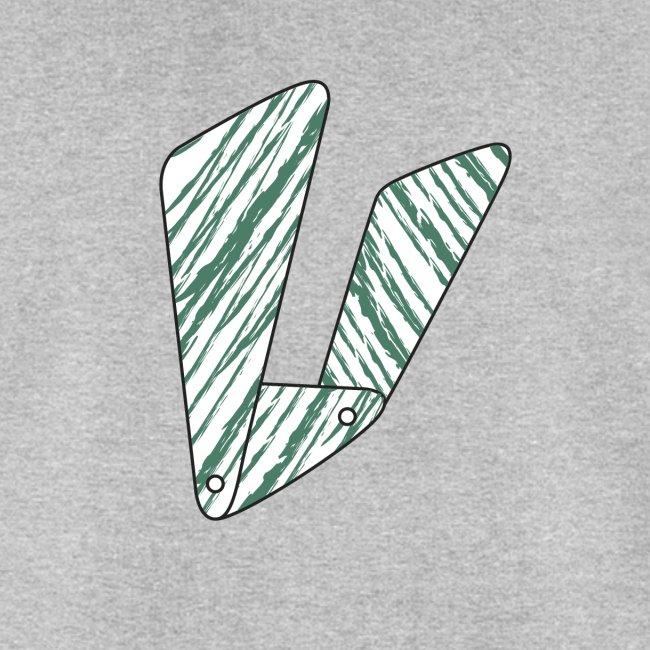 Lettera V verde