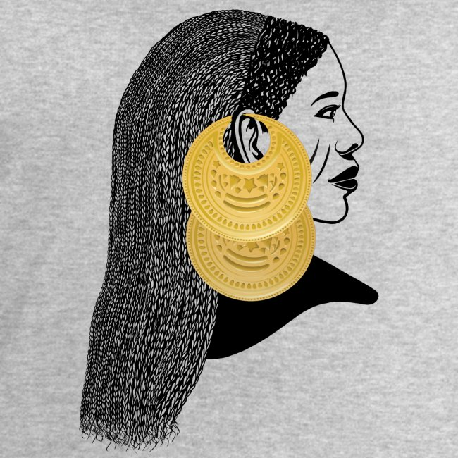 Girl with القمر بوبا earrings
