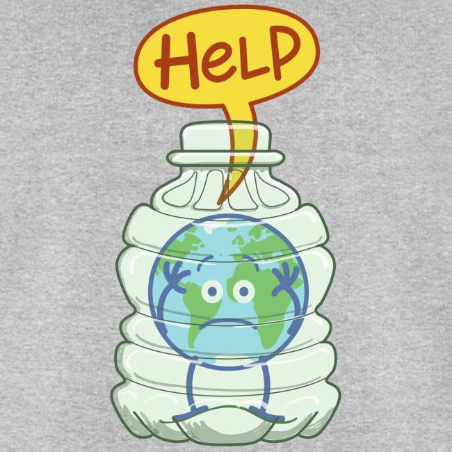 Planete Terre Attrapee Dans Bouteille Plastique Sweat Shirt Bio Stanley Stella Homme Zoo Co