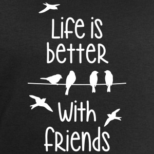 life is better with friends Vögel twittern Freund - Männer Sweatshirt von Stanley & Stella