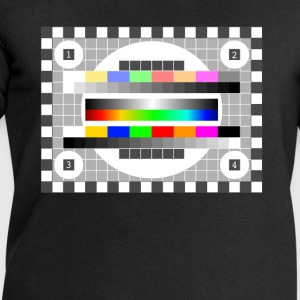 testbild color pattern retro stylish TV running - Men's Sweatshirt by Stanley & Stella
