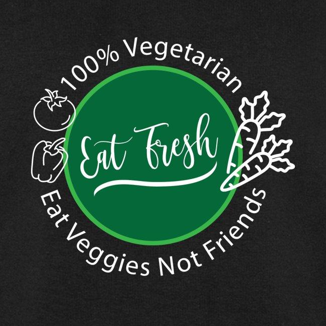 Gezond eten vegetarische t-shirt