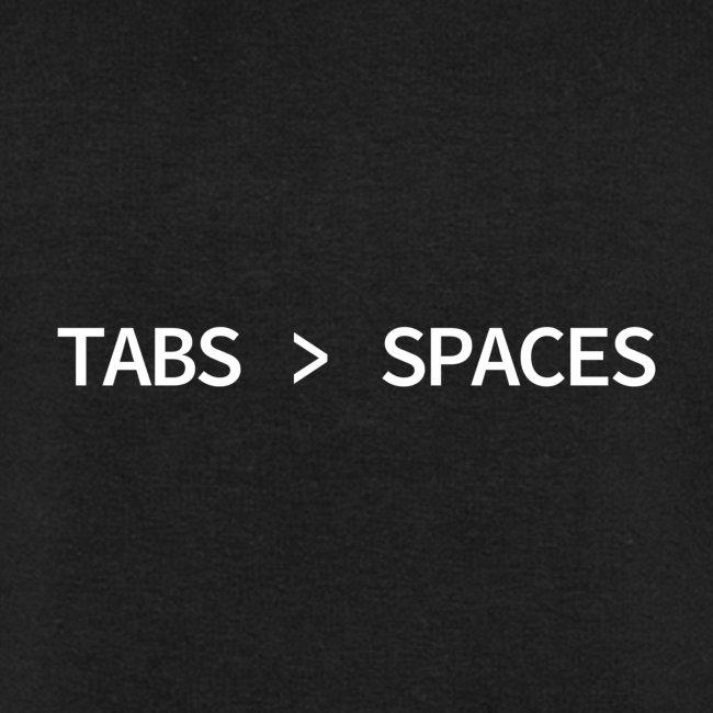 Tabs vs Spaces - Programmer's Tee