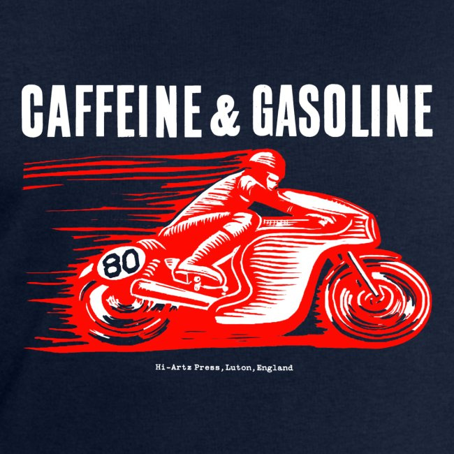 Caffeine & Gasoline white text