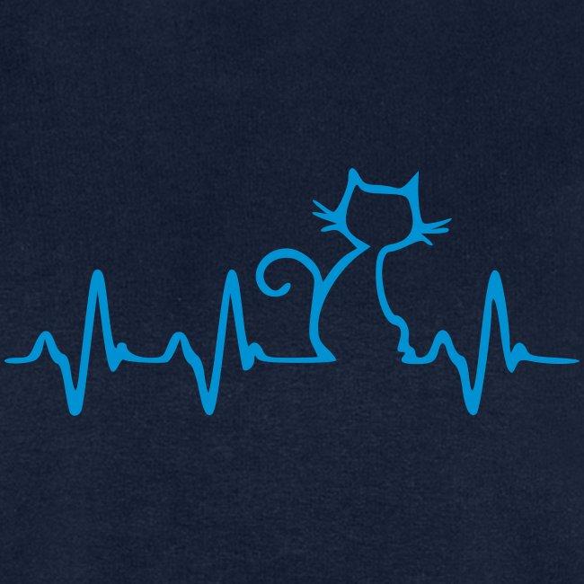 Vorschau: Cat Heartbeat - Männer Bio-Sweatshirt von Stanley & Stella