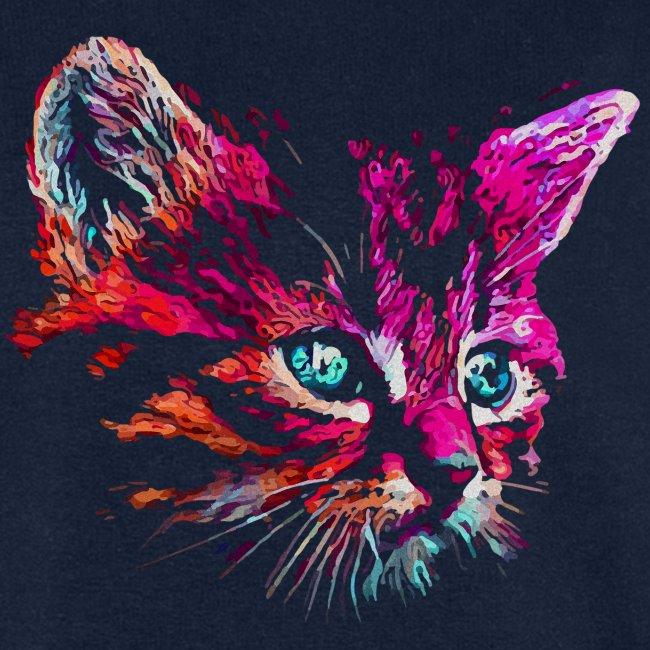 Vorschau: cat pink paint - Männer Bio-Sweatshirt von Stanley & Stella
