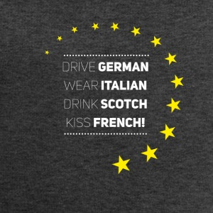 Be Europe Italy Germany frank Love eu stars - Men's Sweatshirt by Stanley & Stella