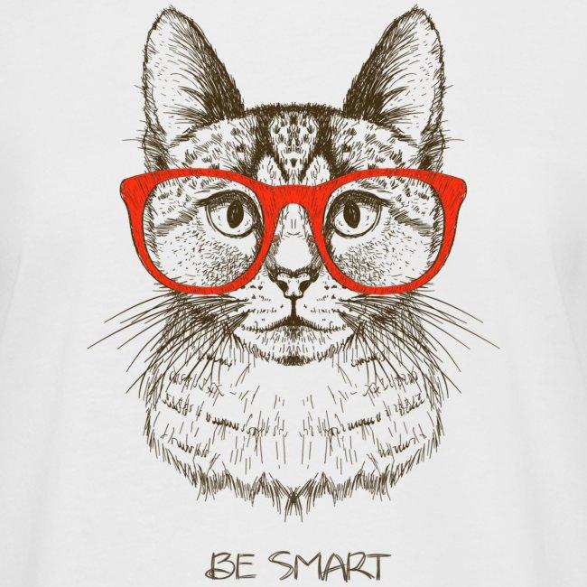 Vorschau: Cat Hipster - Frauen Oversize T-Shirt