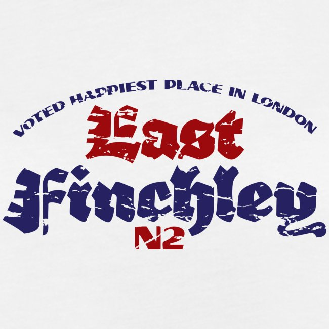 East Finchley Blackletter text in colour
