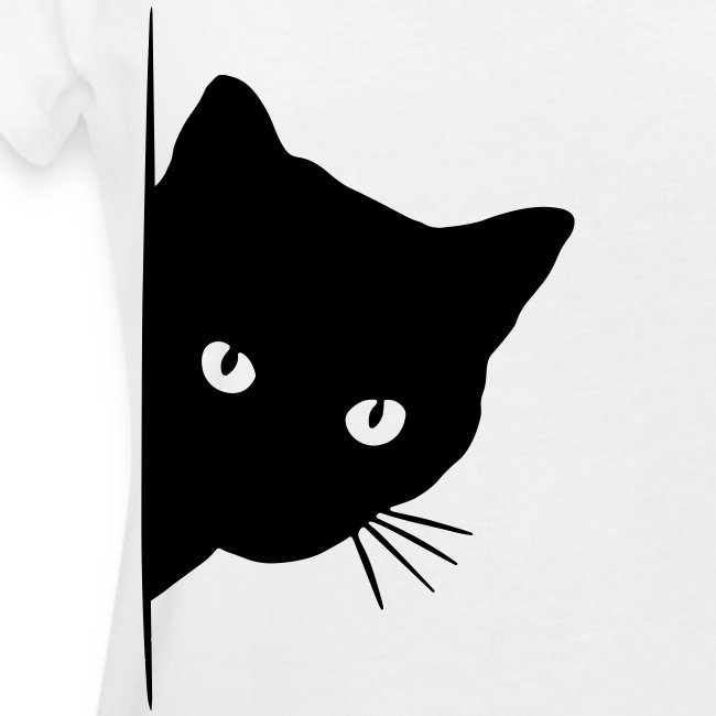 peeking cat - Frauen Oversize T-Shirt