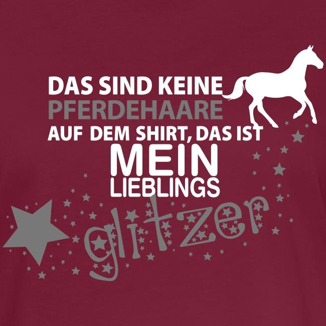 Vorschau: Glitzer Pferd - Frauen Oversize T-Shirt