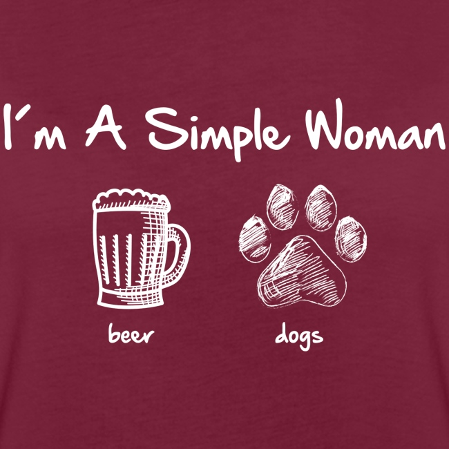 Vorschau: simple woman beer white - Frauen Oversize T-Shirt