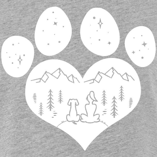 Vorschau: dog girl outdoor pawheart - Frauen Oversize T-Shirt