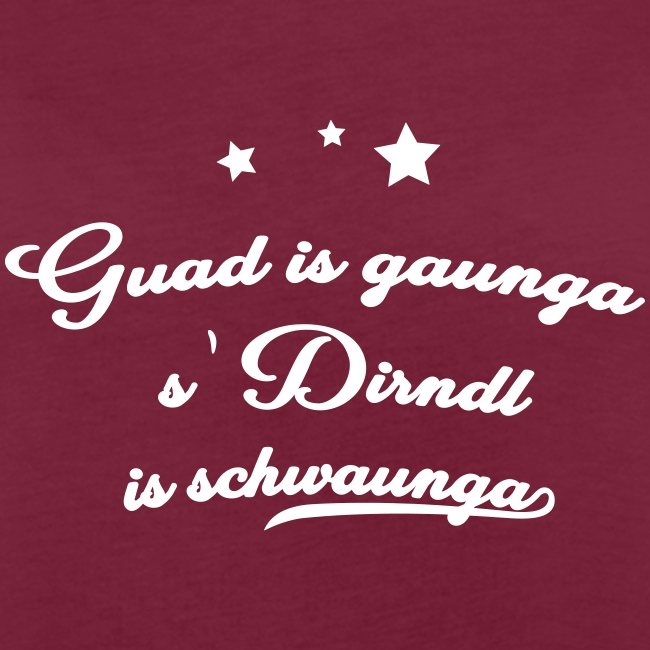 Vorschau: Guad is gaunga s'Dirndl is schwaunga - Frauen Oversize T-Shirt