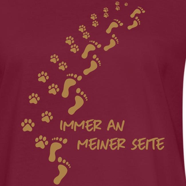 Vorschau: Immer an meiner Seite - Mein Hund und Ich - Frauen Oversize T-Shirt