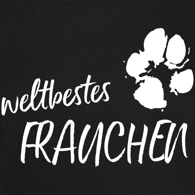 Vorschau: weltbestes Frauchen Pfote Hund - Frauen Oversize T-Shirt