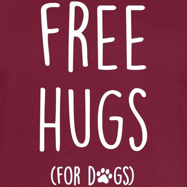 Vorschau: free hugs for dogs - Frauen Oversize T-Shirt