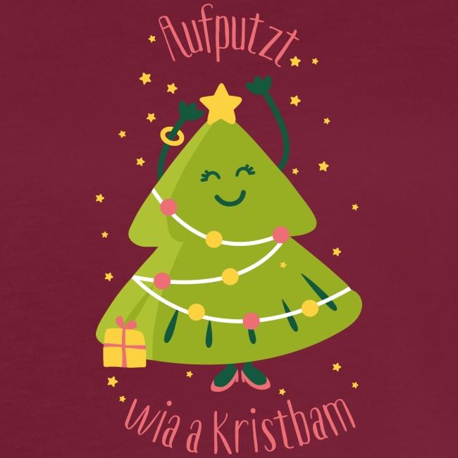 Vorschau: Aufputzt wia a Kristbam - Frauen Oversize T-Shirt