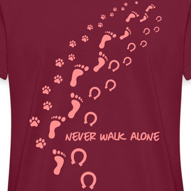 Vorschau: never walk alone hund pferd - Frauen Oversize T-Shirt