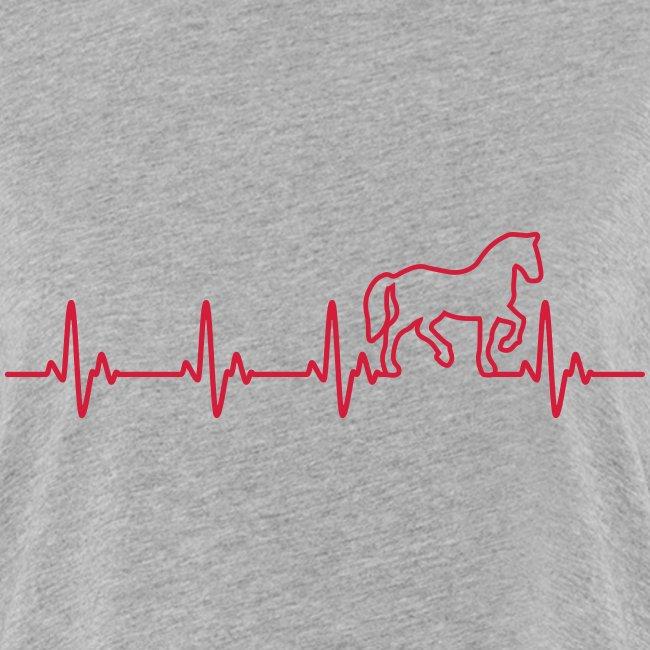 Vorschau: Horse Heartbeat - Frauen Oversize T-Shirt