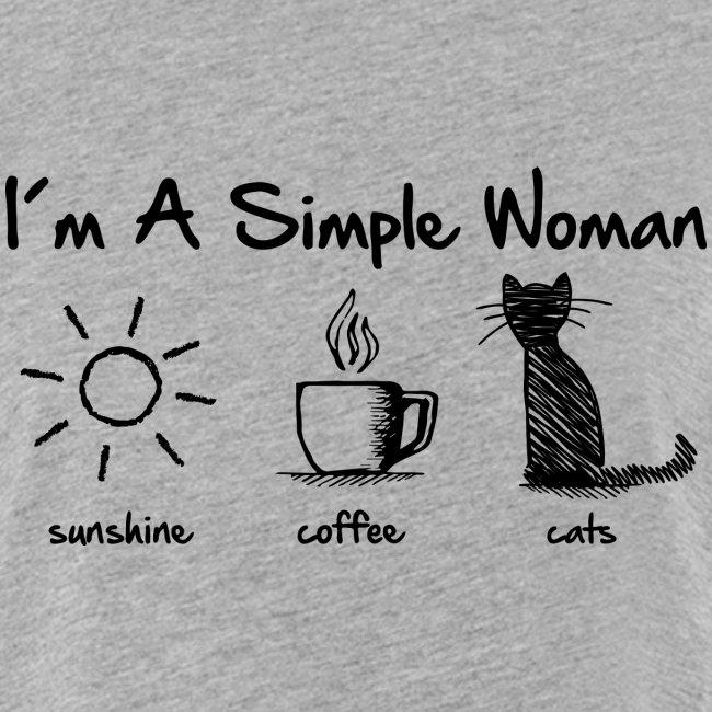 Vorschau: simple woman cats - Frauen Oversize T-Shirt