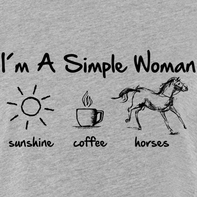 Vorschau: simple woman horse - Frauen Oversize T-Shirt
