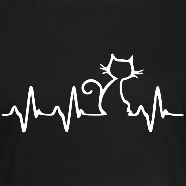 Vorschau: Cat Heartbeat - Frauen Oversize T-Shirt