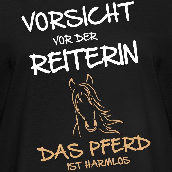 Vorschau: Vorsicht vor der Reiterin - Frauen Oversize T-Shirt