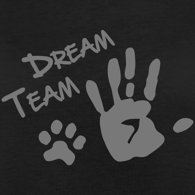 Vorschau: Dream Team Hand Hundpfote - Frauen Oversize T-Shirt
