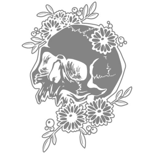 Skull and Flowers - Oversize-T-shirt dam