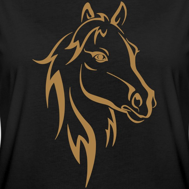 Vorschau: Horse - Frauen Oversize T-Shirt