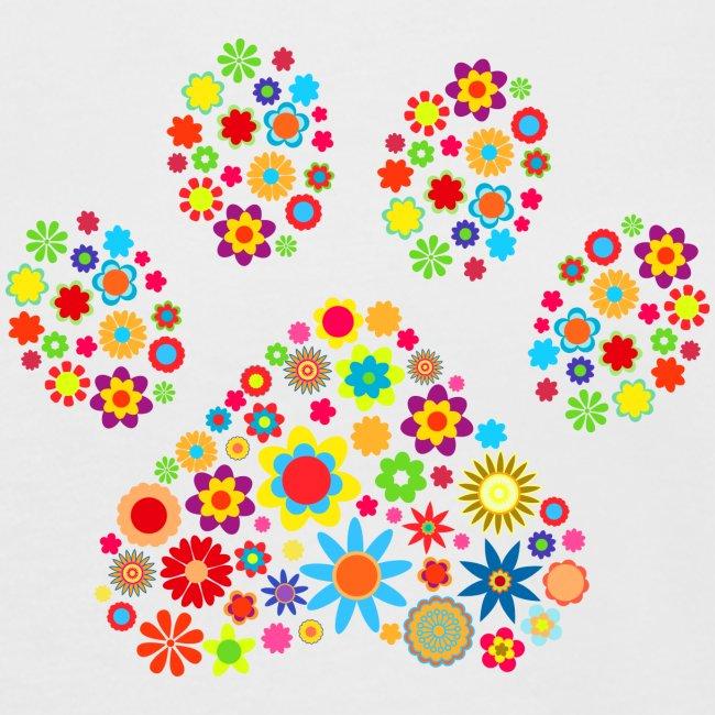 flower dog paw cat