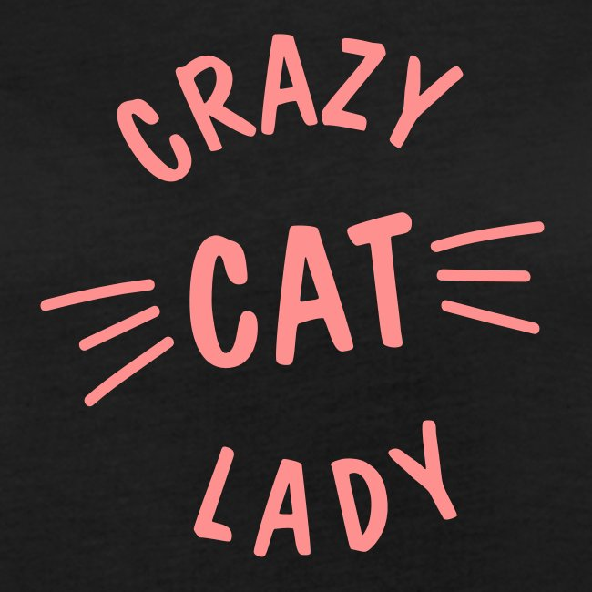 Crazy Cat Lady meow - Frauen Oversize T-Shirt